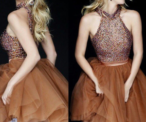 beaded, bedazzled, and dress image