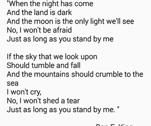 Lyrics, stand by me, and love image
