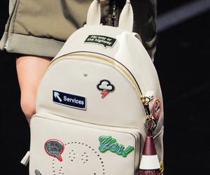 backpack, fashion, and runway image