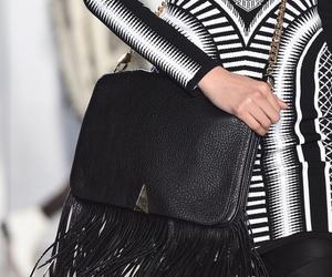 bag, fringe, and black image