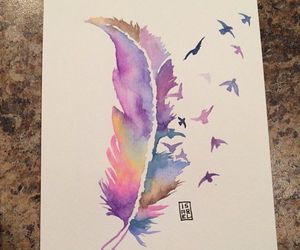 feather, art, and birds image