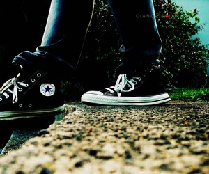black, converse, and dirty image