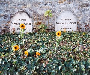 van gogh, art, and flowers image