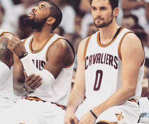 cavs, kevin love, and kyrie irving image