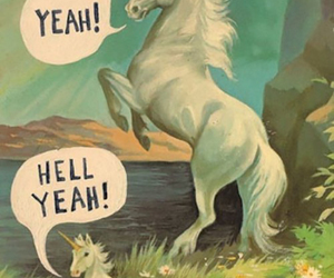 unicorn, hell yeah, and funny image
