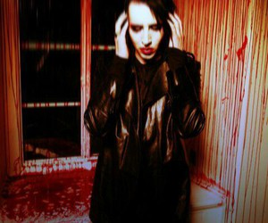 Marilyn Manson, blood, and eat me drink me image