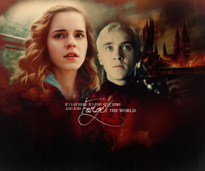 dramione, harry potter, and hermione image