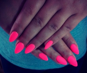 awsome, nails, and neon image