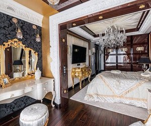 bedroom, luxury, and cozy image