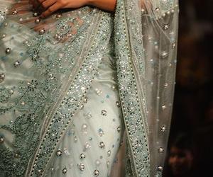sari, wedding, and saree image