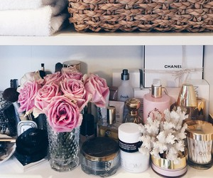 flowers, perfume, and chanel image