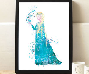 art, blue, and disney princess image
