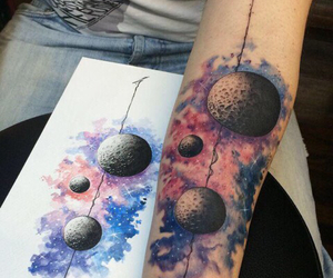 tattoo, art, and galaxy image