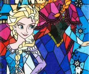 disney queen, queen elsa, and colors image