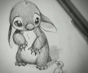 drawing, disney, and stitch image