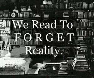 book, reality, and read image