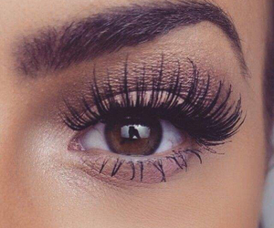 makeup, eyes, and eyelashes image