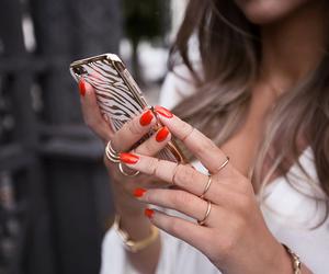 fashion, nails, and kenza zouiten image
