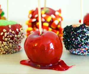 candy, apple, and sweet image