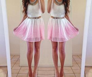 dress, white, and pink image