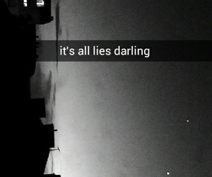 black, darling, and night image