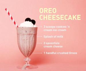 milkshake, food, and oreo image