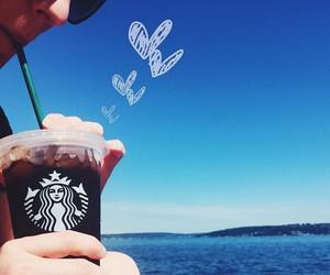 starbucks, summer, and coffee image