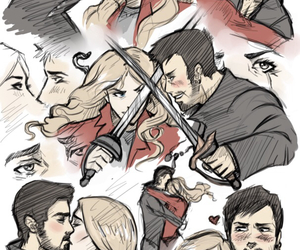 captain hook, emma swan, and killian jones image