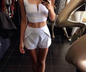 beauty, white, and dress image