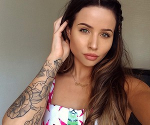Tattoos, girl, and hair image