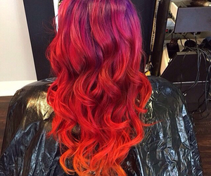 colored, curls, and dyed image