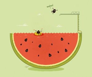 watermelon and funny image