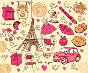 paris, pink, and background image