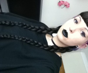 alternative, black, and braids image