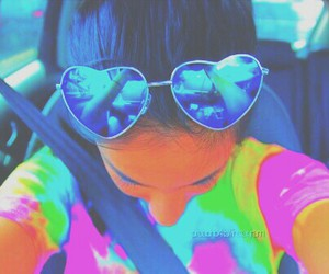colorful, sunglasses, and tumblr image