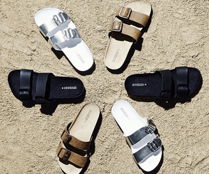 black and sandals image