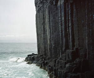 sea, ocean, and cliff image