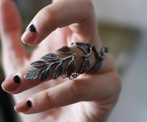 ring, nails, and leaves image