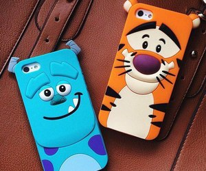iphone, tiger, and case image