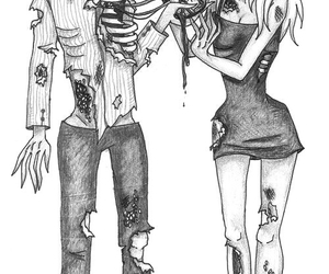 love, zombie, and heart image