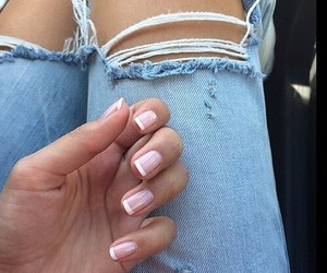 nails, jeans, and style image