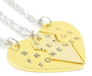 best friends forever, heart necklace, and necklace image