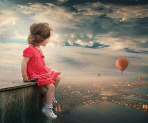 clouds, free, and girl image