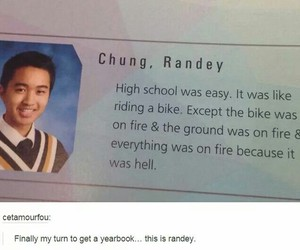 funny, tumblr, and yearbook image