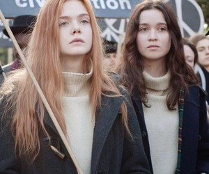 Elle Fanning, ginger and rosa, and girls image