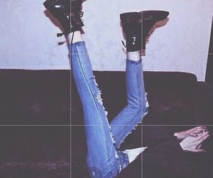 girl, grunge, and boots image