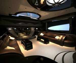 luxury, yacht, and interior image