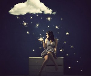 girl and clouds image