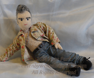 doll, knitted, and morrissey image