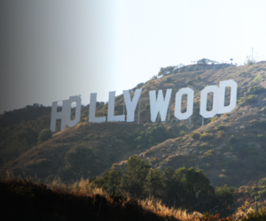 california, hills, and hollywood image